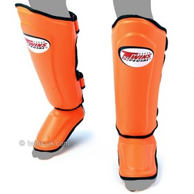 Twins Double Padded Shin Pads Orange