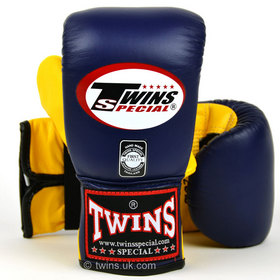 Twins Air Flow Bag Gloves Navy Blue & Yellow