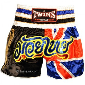 Twins Satin Muay Thai Shorts UK Flag