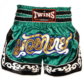 Twins Satin Muay Thai Shorts Green