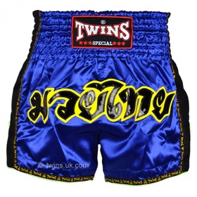 Twins Muay Thai Shorts / Retro / Blue