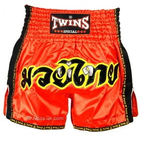 Twins Muay Thai Shorts / Retro / Red