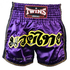 Twins Muay Thai Shorts / Retro / Purple