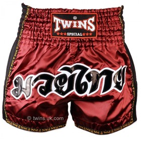 Twins Muay Thai Shorts / Retro / Burgundy