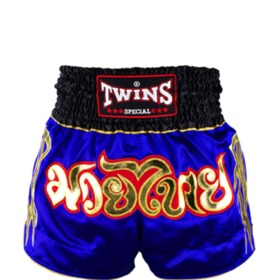 Twins Satin Muay Thai Shorts Blue & Black