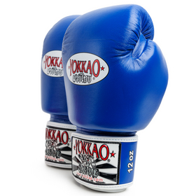 Yokkao Blue Velcro Boxing Gloves 10oz