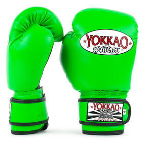 Yokkao Kids Synthetic Velcro Boxing Gloves Neon Green