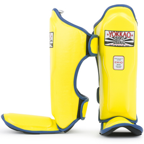 Yokkao Kids Shin Pads Yellow Neon