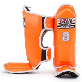 Yokkao Kids Shin Pads Orange Neon