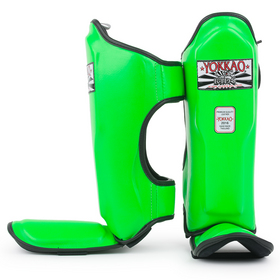Yokkao Kids Shin Pads Green Neon - kids size only
