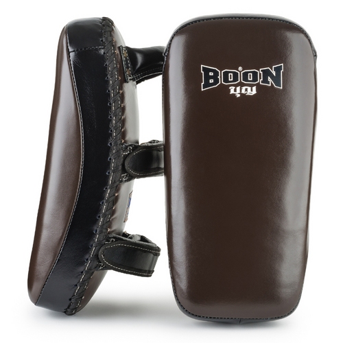 Boon Sport Curved Leather Thai Kick Pads