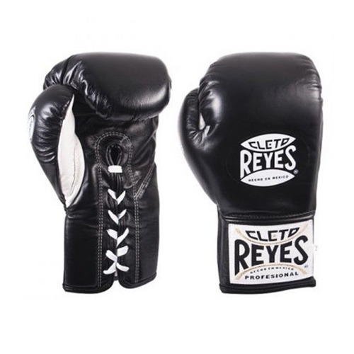 Cleto Reyes Safetec Lace Up Boxing Gloves Black