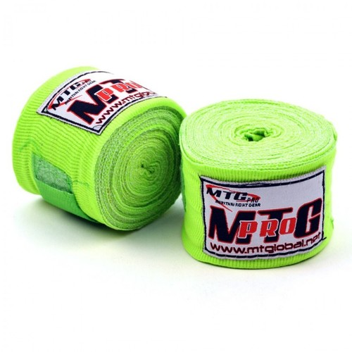 MTG Pro 5m Elasticated Handwraps Lime Green