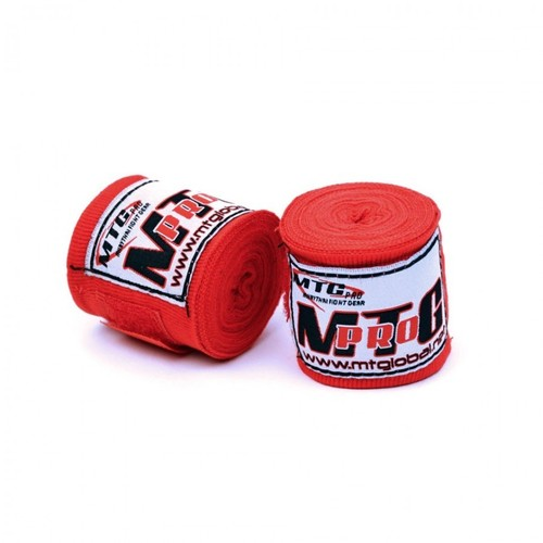 MTG Pro 2.5m Elasticated Handwraps Red