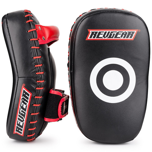 Revgear Pro Curved Thai Kick Pads Black & Red