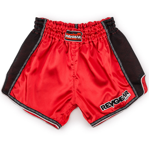Revgear Satin Muay Thai Shorts Red
