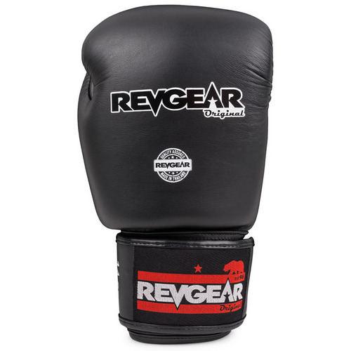 Revgear Black Original Thai Velcro Boxing Gloves