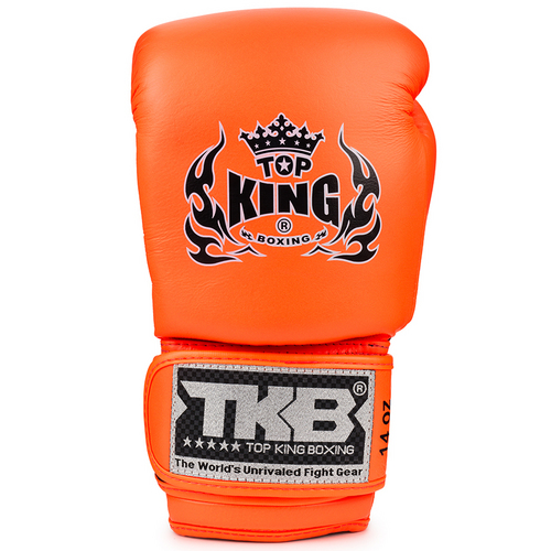 Top King Double Lock Air Boxing Gloves Orange
