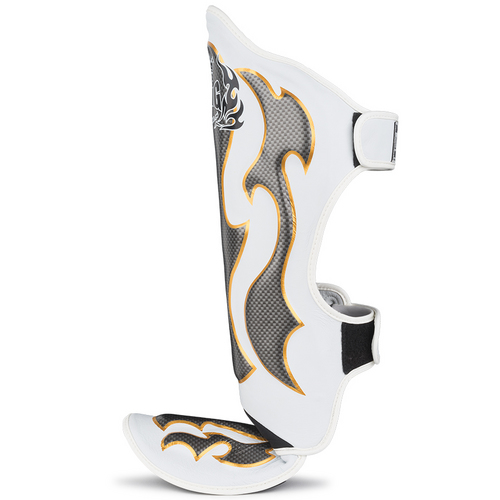 Top King Empower Creativity Shin Pads White & Silver
