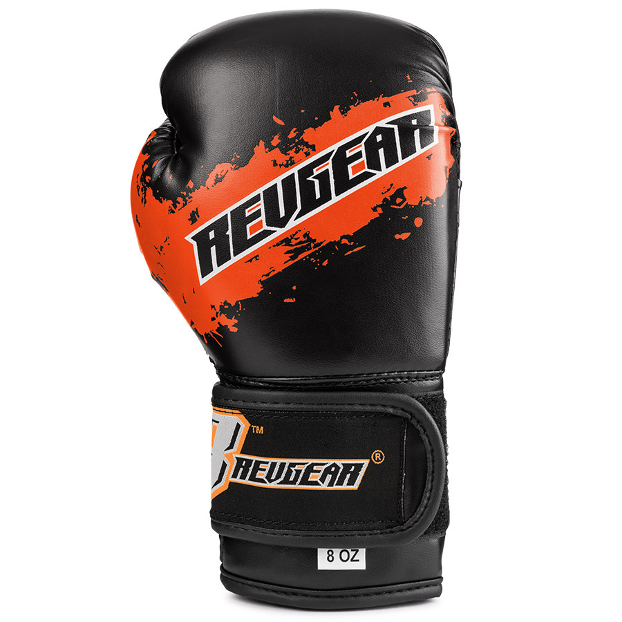 Deluxe Weight Lifting Gloves St12007: Revgear Kids Deluxe Velcro Boxing Gloves Black & Orange