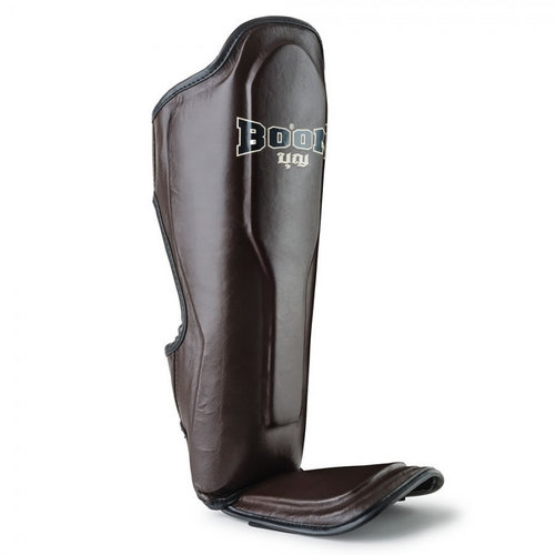 Boon Leather Shin Pads Brown