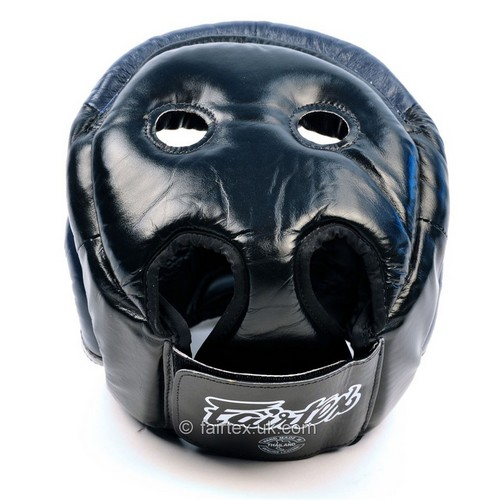 Fairtex Full Face Head Guard Black & Blue