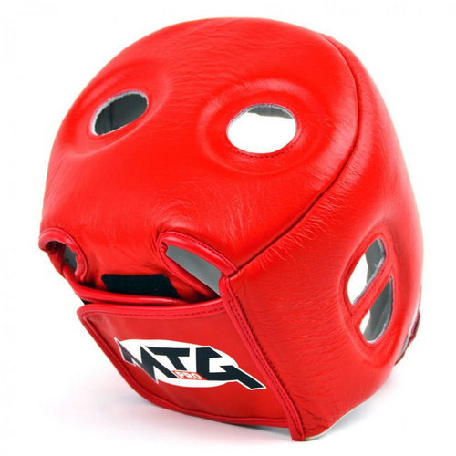MTG Pro Open Face Headguard Red
