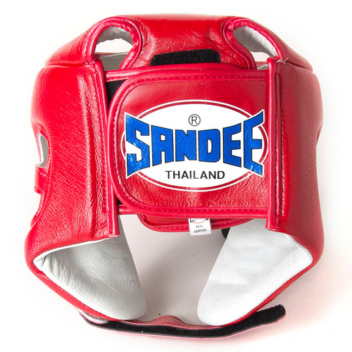 Sandee Open Face Head Guard Red
