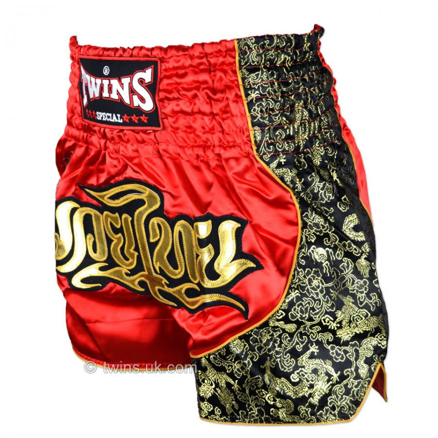 Twins Special Red-Gold Muay Thai Boxing Shorts TWS-151