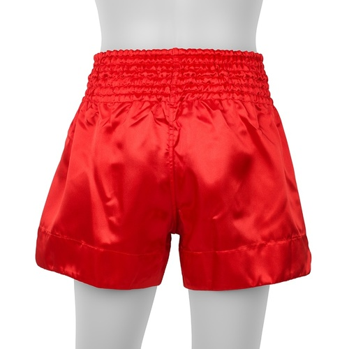 Boon Sport Satin Muay Thai Shorts Red