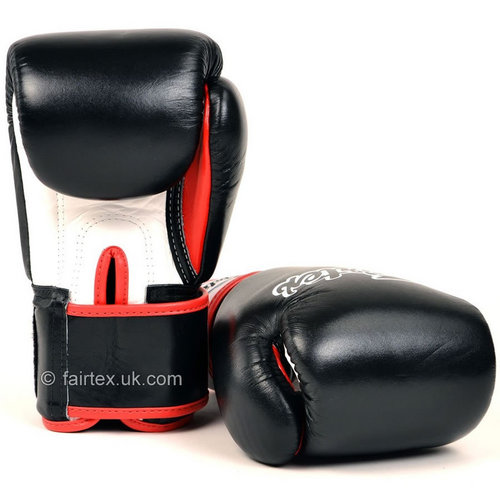 Fairtex 3-Tone Black Velcro Boxing Gloves