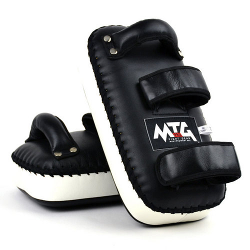 MTG Pro Leather Thai Kick Pads Black & White
