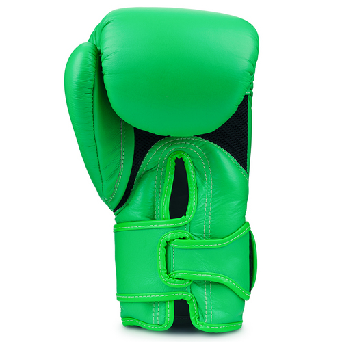 Top King Double Lock Air Boxing Gloves Lime Green
