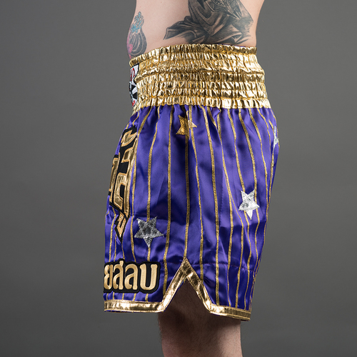 Yokkao Satin Muay Thai Shorts Yoddecha Purple