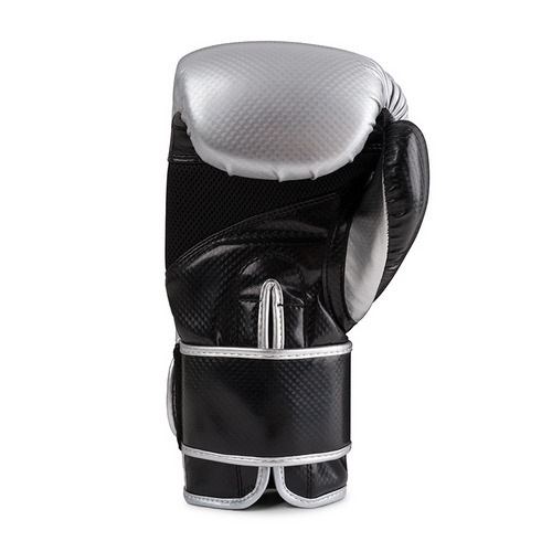 Revgear Pinnacle Velcro Boxing Gloves Silver & Black
