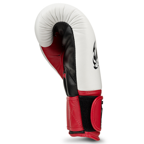 Top King Ultimate Boxing Gloves White/Red/Black