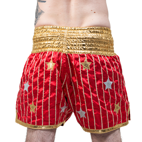 Yokkao Satin Muay Thai Shorts Yoddecha Red