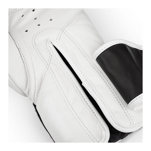 Boon White Leather Velcro Boxing Gloves