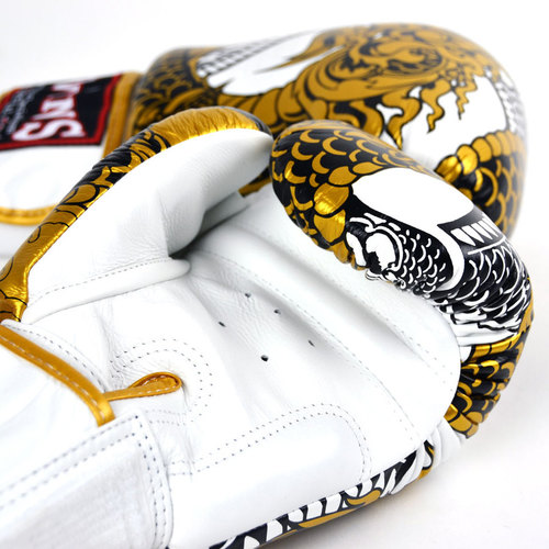 Twins Boxing Gloves / Nagas / White-Gold